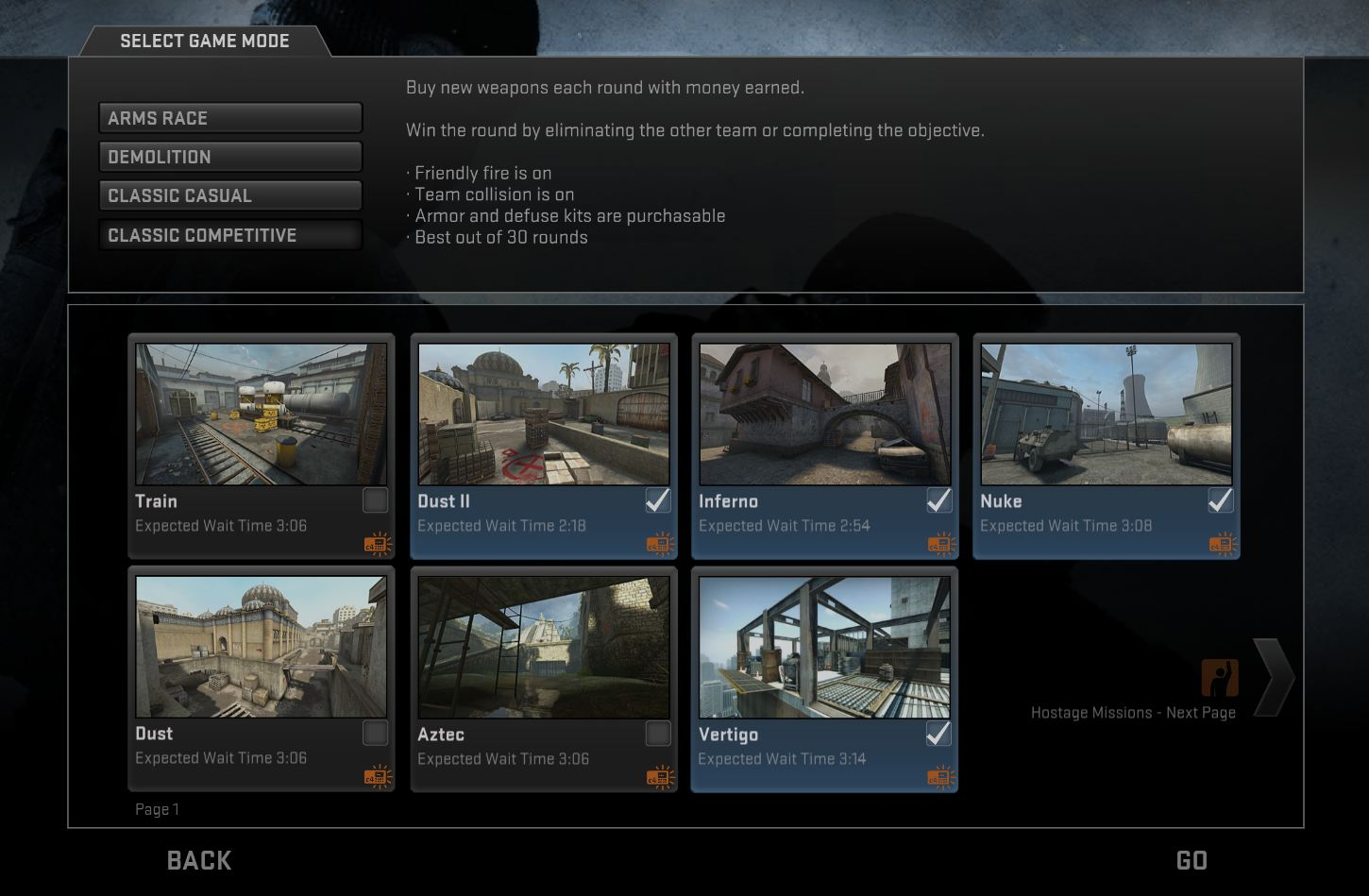 How to start matchmaking cs go